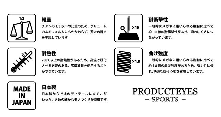 PRODUCT EYES -SPORTS- の特徴